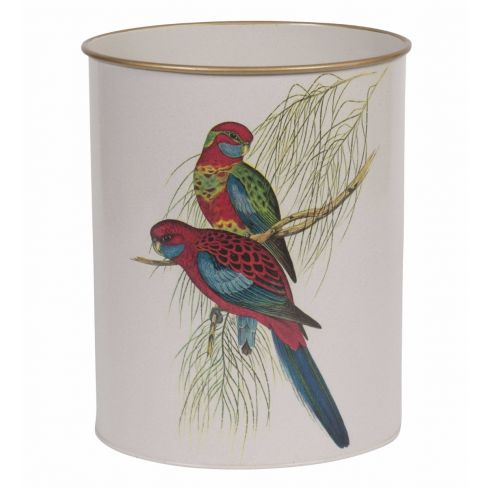 Waste Paper Bin Parakeets