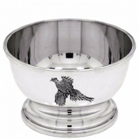Pewter Pheasant Bowl