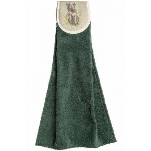 Hanging Towels Border Terrier Green