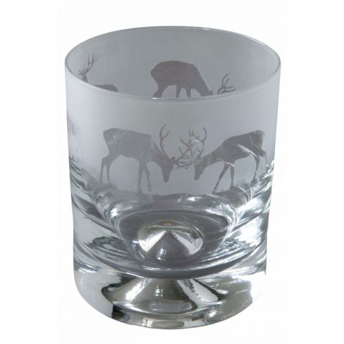 Engraved Whisky Tumblers Stag