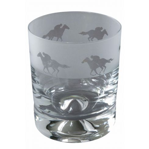 Engraved Whisky Tumblers Race Horse