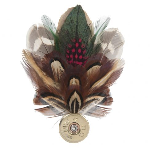 Feather Pin - Brown