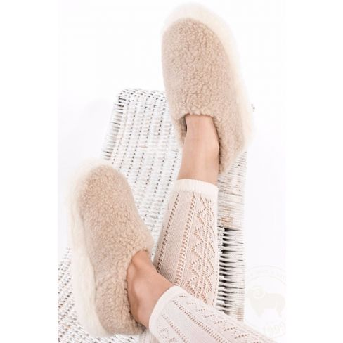 Siberian Slippers Beige