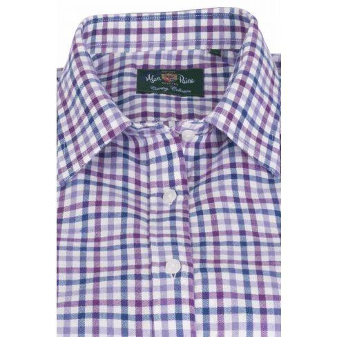 Alan Paine Bromford Ladies Shirt Purple Check