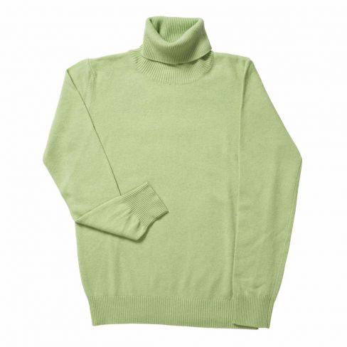 Italian Rollneck Sweater - Lime