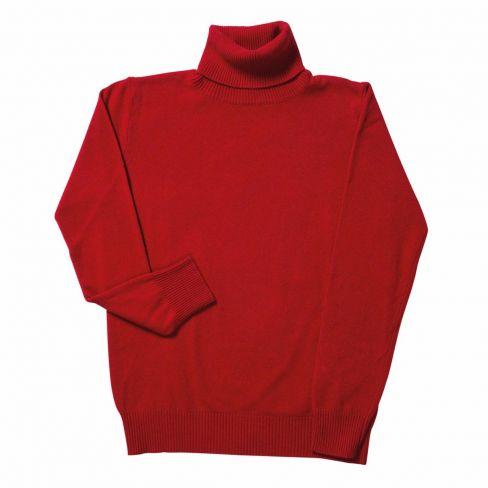 Italian Rollneck Sweater - Red