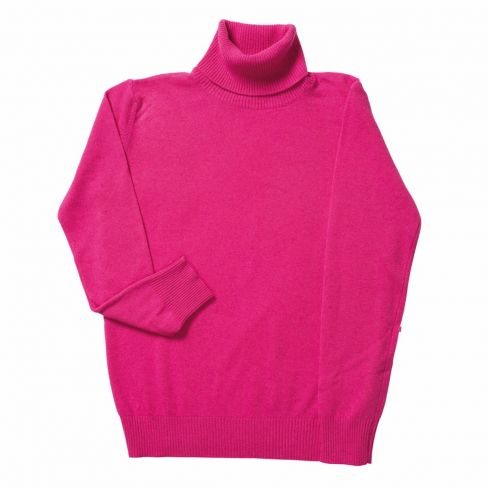 Italian Rollneck Sweater - Cerise