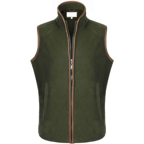 The Chilton Fleece Gilet Olive