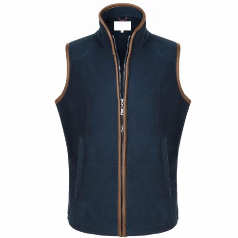 The Chilton Fleece Gilet Navy