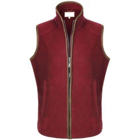 The Chilton Fleece Gilet Red