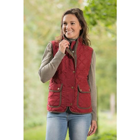 Baleno Ladies Quilted Gilet - Bordeaux