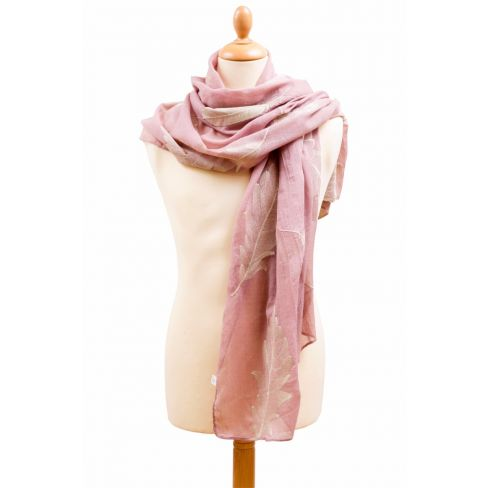 Big Feather Scarf Dusky Pink