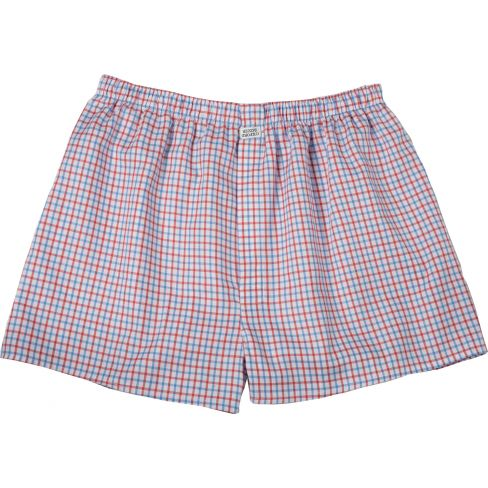 Cotton Boxer Shorts Red Blue