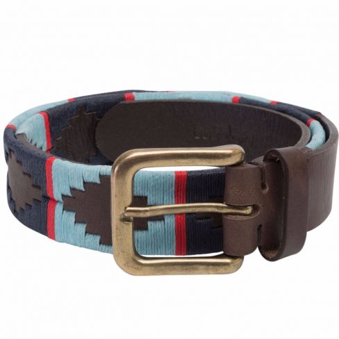 Men's Polo Belt - Blue/Navy