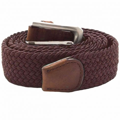 Stretch Corded Belts - Brown