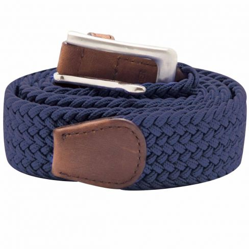 Stretch Corded Belts - Navy