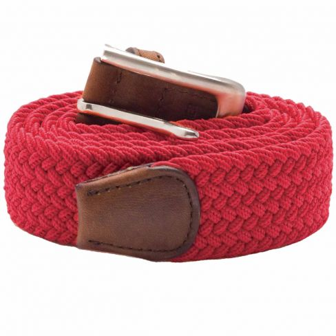 Stretch Corded Belts - Red