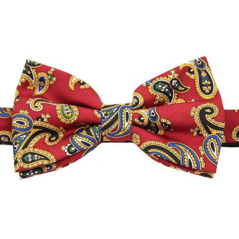 Silk Bow Ties Paisley - Red