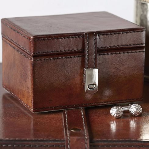 Leather Stud Box