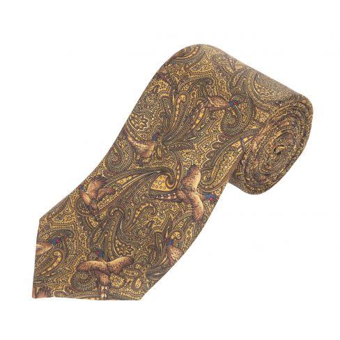 Silk Tie Pheasant Paisley