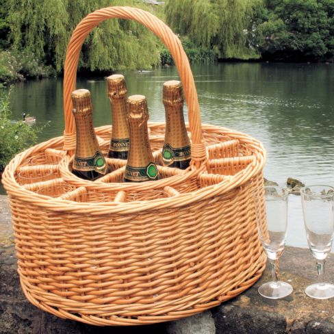 Celebration Champagne Basket with 12 free glasses