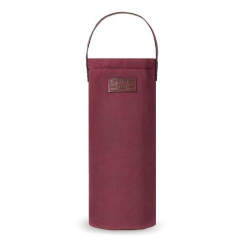 Waxed Canvas Insulated Bottle Bag - Wine