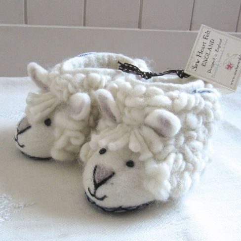 Kids Felt Slippers Sheep