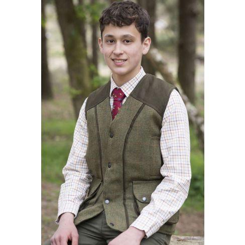 Kids Tweed Shooting Vest