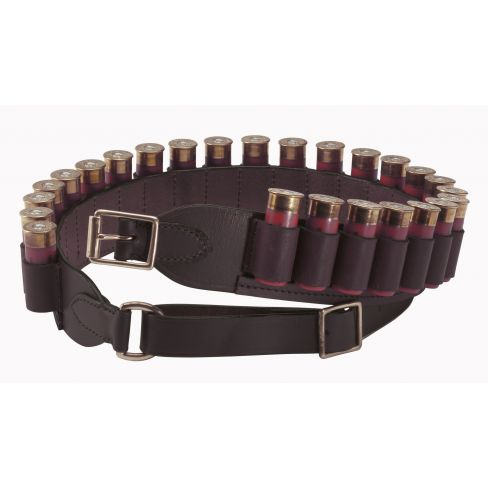 Havana Brown Leather Cartridge Belt Open Loop