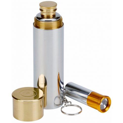 3oz Cartridge Hip flask and Keyring Torch