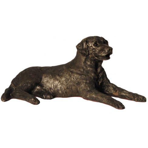 Edward Labrador Bronze - Lying down