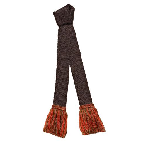 Contrast Wool Garters Mocha (Brown-Orange)