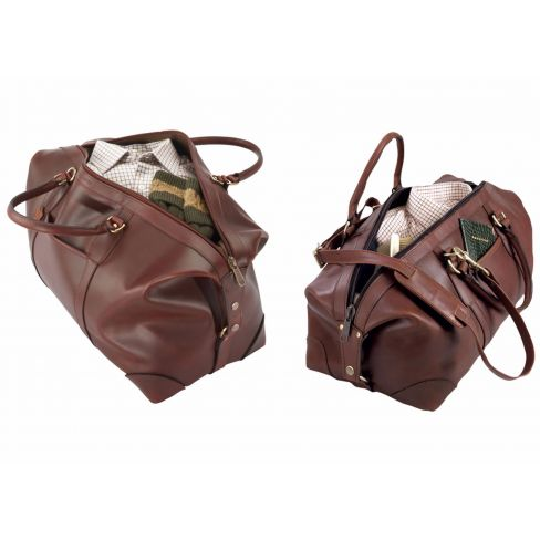 FFF Luxury Leather Travel Bags - Complete Set (Large/Small)