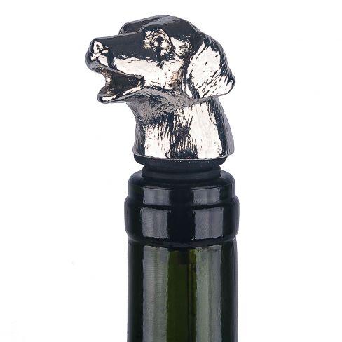 Drip Free Bottle Stopper / Pourer Dog Head