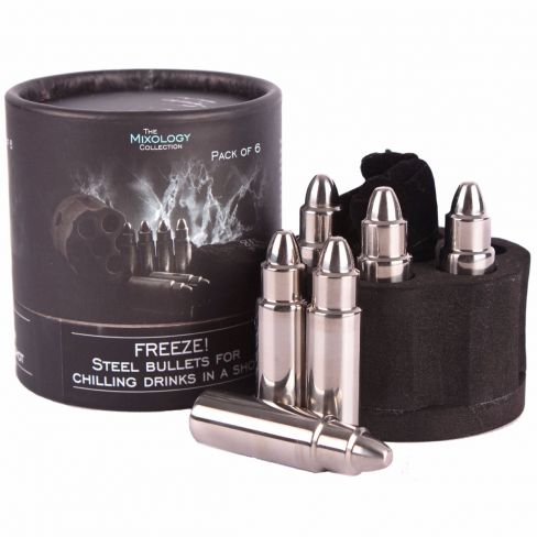 Steel Bullet Ice Cube Set