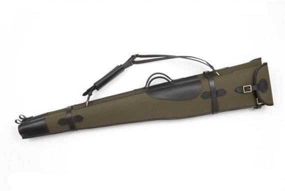 """The Compton Canvas and Leather Double Gun Slip 50"""""""