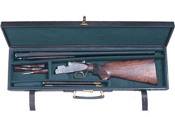 Pigskin Gun Case Dark Brown Over & Under