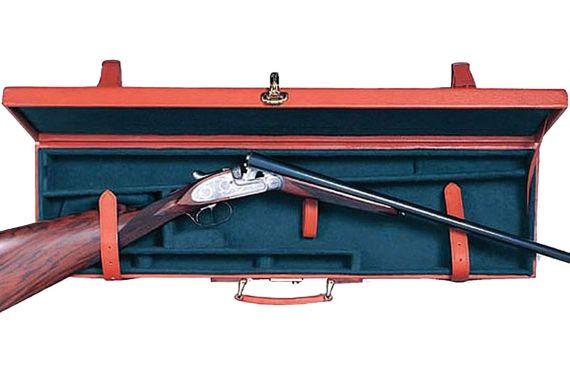 Pigskin Gun Case Tan Side by Side