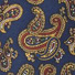Luxury Silk and Lambswool Scarf Paisley Navy