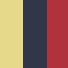 Pack of Three Sock Sets - Red, Navy, Yellow