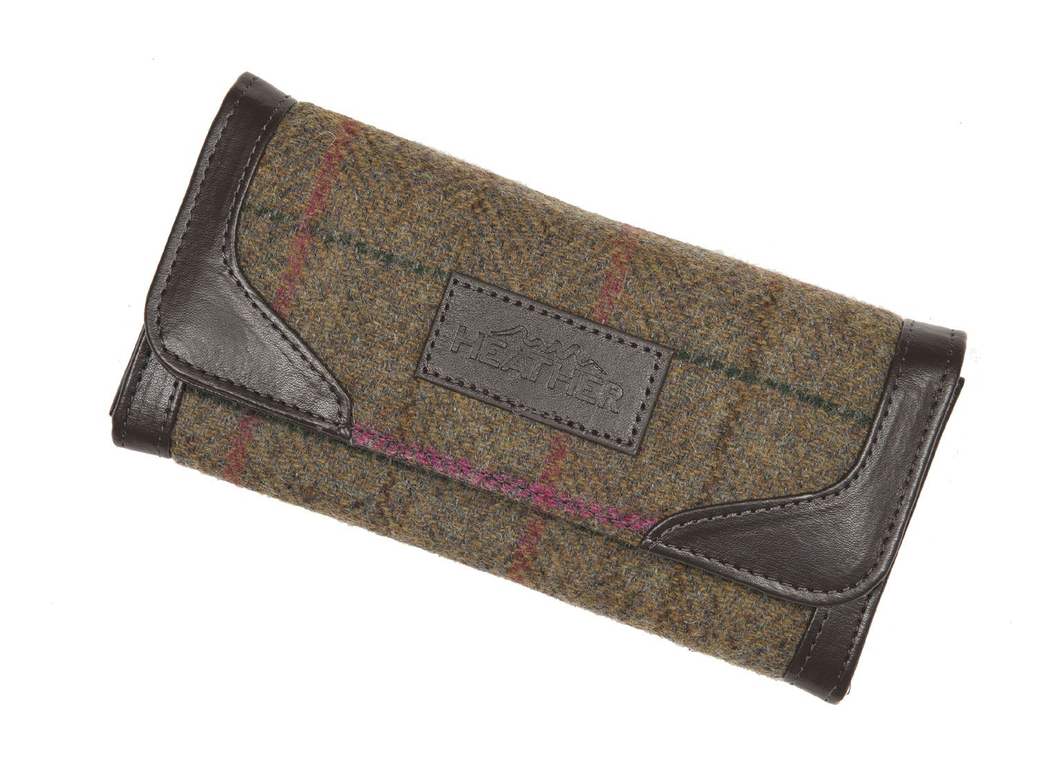 Our Ladies Tweed Wallet featuring a leatherette trim