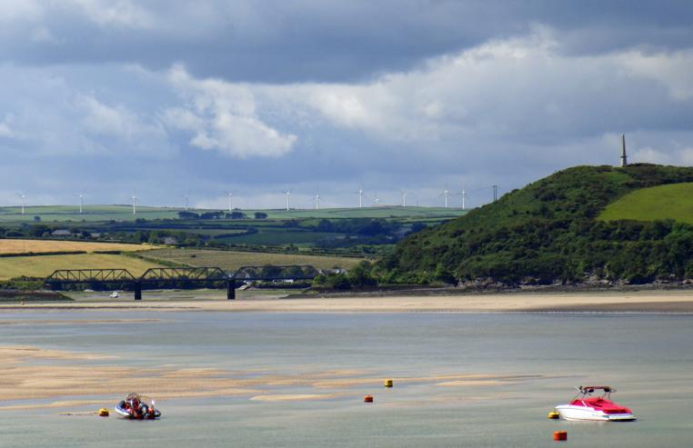 picture of estuary river views with bridge