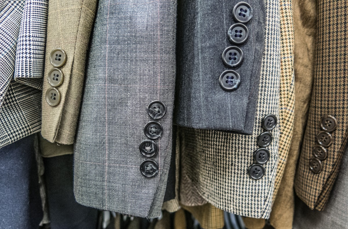 a selection of tweed jackets