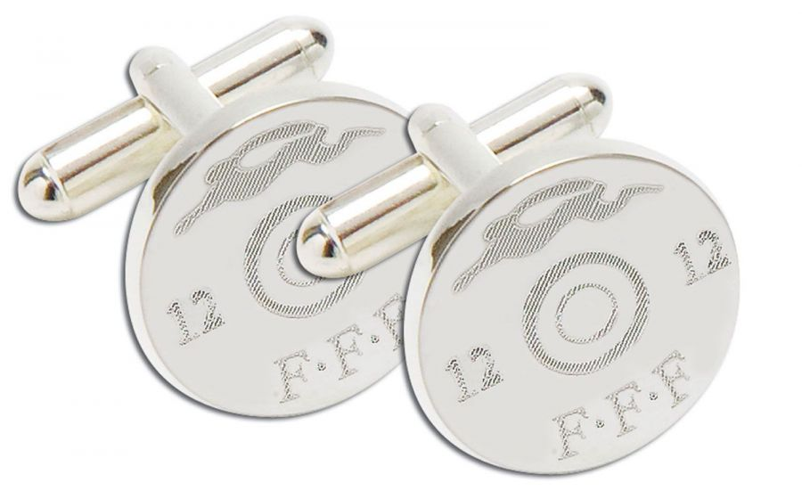 Silver plated cartridge cufflinks