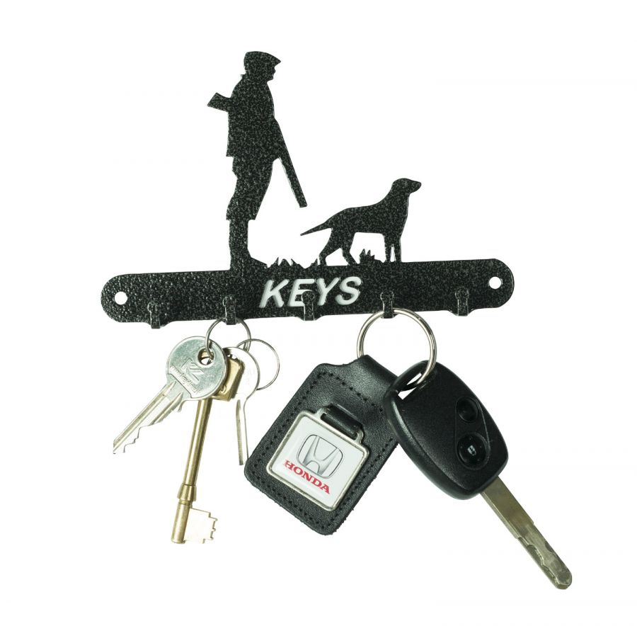 Man and dog key hooks