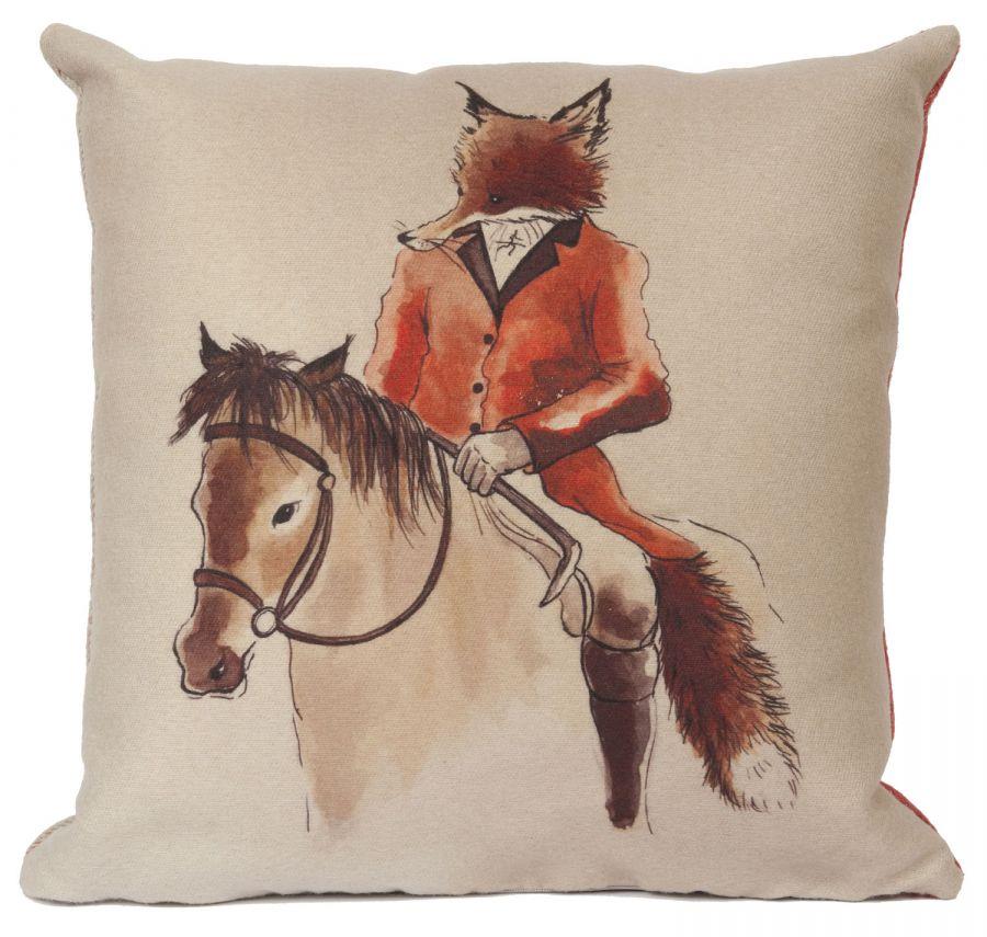 Mr Fox country cushion
