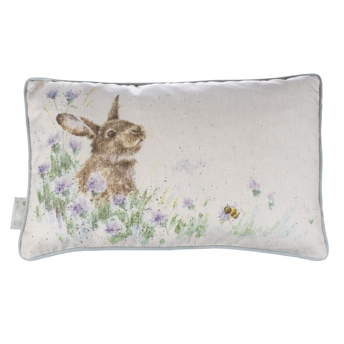 Country Cushion Meadow Rabbit featuring a beautiful illustration.