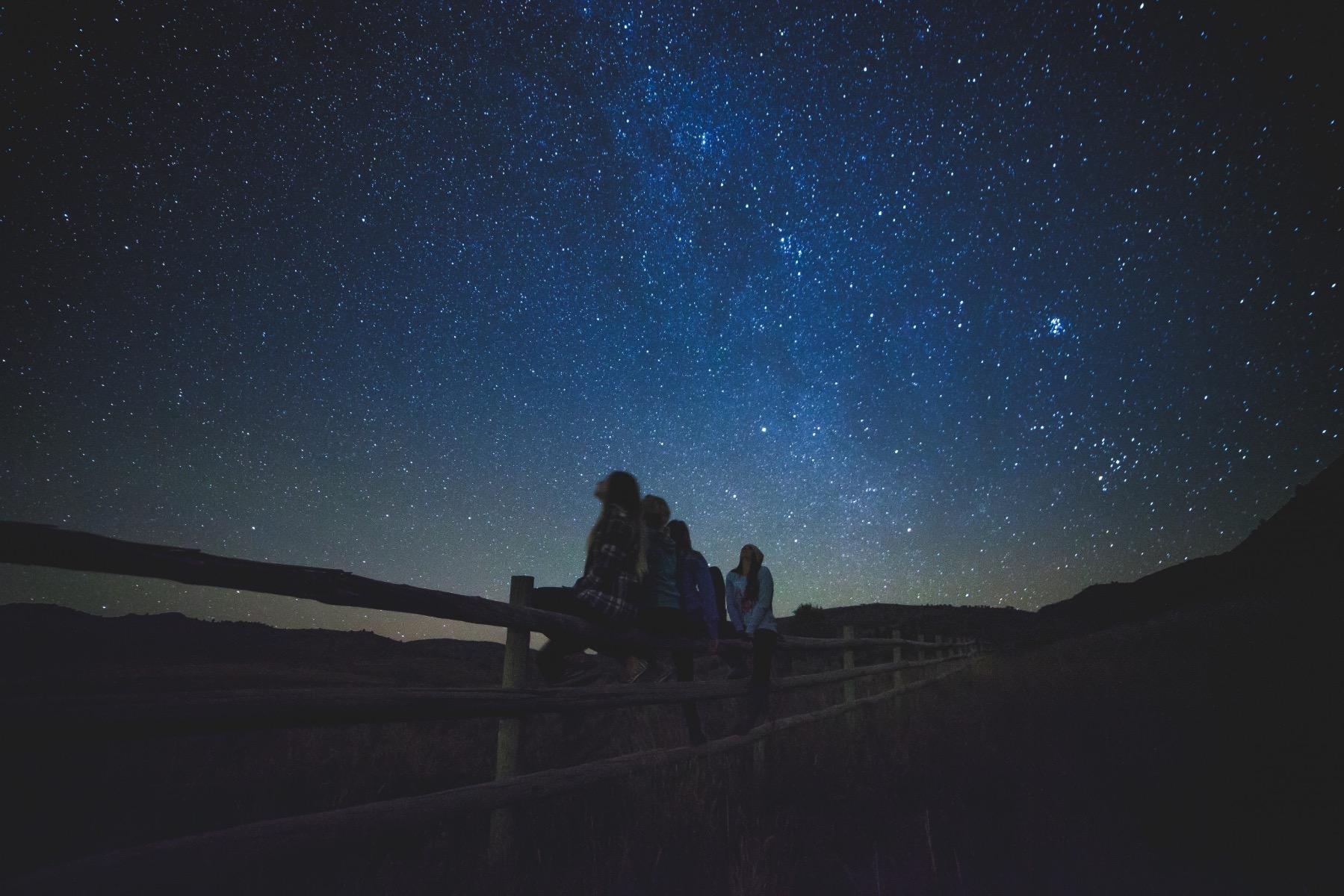 a beautifully lit night sky