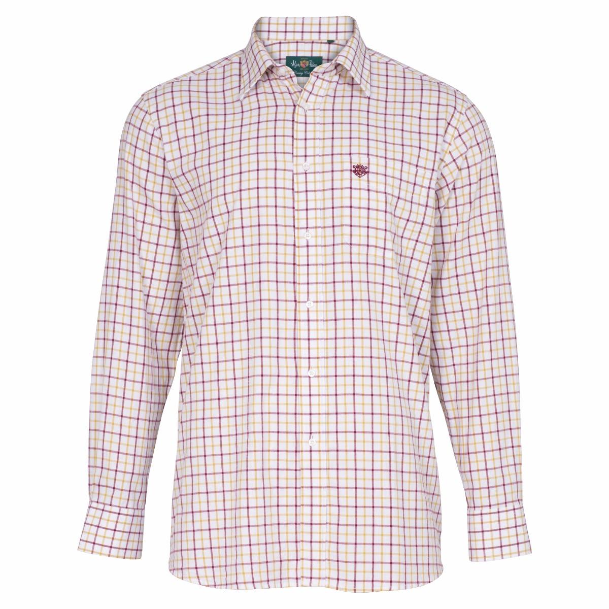 9873dc3fb5ee1 alan paine ilkley men s shirt in bordeaux chk26.jpg